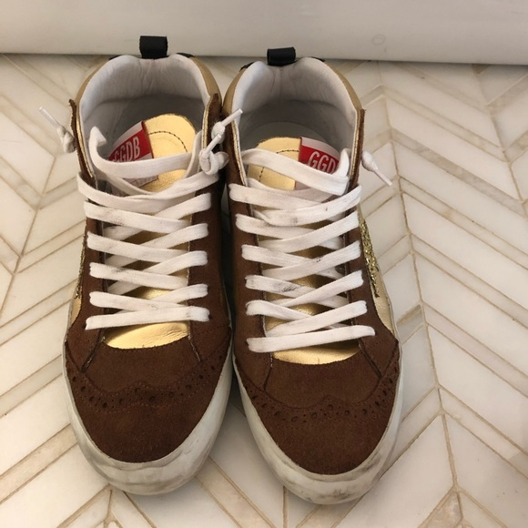 36467d1a93b6 Golden Goose Shoes | Mid Star Gold Glitter Star Sneakers | Poshmark